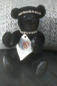 Beautiful-Canterbury-Bears-Black-Bear-With-Faux-diamonds-Limited-Edition