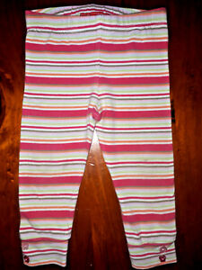SPROUT-INFANT-GIRL-LEGGING-PANTS-Elastic-Waist-Stripes-Size-0-VGUC