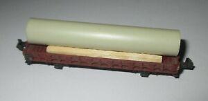 Minitrix-Wagon-a-Bords-Bas-Avec-Tube-Charge