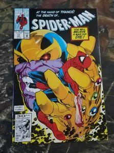HIGH-GRADE-NM-Spider-Man-Vol-1-17-Marvel-Comic-1991-Thanos-Cover-Infinity-Death