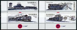 Charmant Namibie 2017 Neuf Sans Charnière Diamant Trains De La Namibie 4 V Set De Chemins De Fer Timbres-afficher Le Titre D'origine Belle Apparence