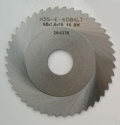 Rohrsägeblatt HSSE-Kobalt blank 68 x 1,6 x 16 Z=64