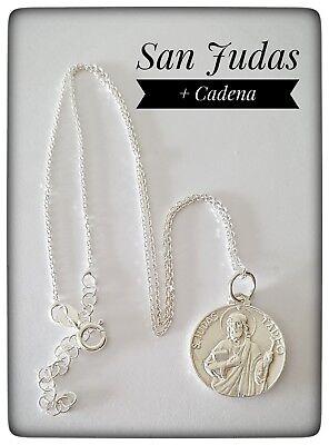 Medal San Judas Tadeo Silver 925 Ml Silver San Judas Tadeo Medal San Judas Ebay
