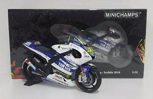 Valentino Rossi Minichamps 1/12 Modèle Yamaha Yzr M1 Motogp Testbike 2014 Nouveau