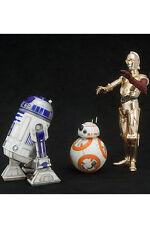 Star Wars Episode VII PVC Statue 3-Pack 1/10 C-3PO & R2-D2 & BB-8 Kotobukiya