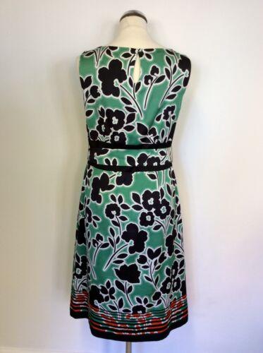 Green Size Dress Floral Belt 12 red amp; Tie Print Monsoon white Black qSIpWwwv