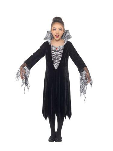 Filles Araignée Vampire Costume Halloween sorcière robe fantaisie enfant tenue
