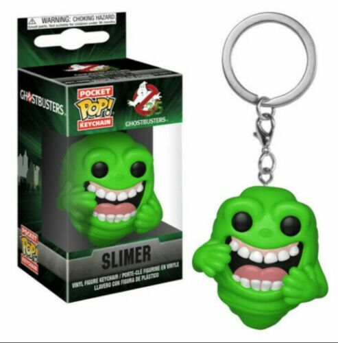 3 x Slimer FUNKO POP Vinyl Keychain Figures Ghostbusters Bundle