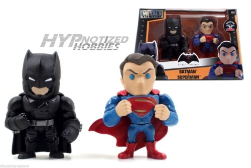 "JADA DC COMICS BATMAN VS SUPERMAN  4/"" DIE-CAST METAL 2PC SET 97524 ALTERNATIVE"