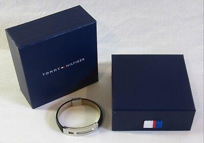 """tommy Hilfiger"" Uomo-bracciale (acciaio Inox Pelle +)/men's Bracelet (steel + Leather)-er)/men's Bracelet (steel+leather) It-it Mostra Il Titolo Originale"