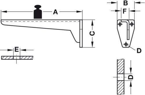 Hebgo Schwerlastkonsole 150 kg Schwerlastträger MIRA Metallkonsole Regalträger