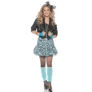 fce3147de0 Rockin The 80's Womens Blue Costume Adult Kit Madonna Party Animal ...