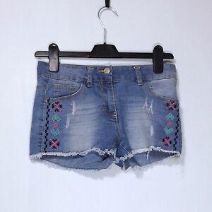 Embroidered-Denim-Shorts-by-Denim-Co-Waist-25-in
