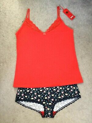 M&s Red Vest Set With Matching Knickers In Blue Patterns With Red Trim - Bnwt Durch Wissenschaftlichen Prozess