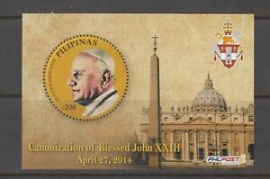 Philippine-Stamps-2014-Pope-John-XXIII-Canonization-Souvenir-sheet-MNH