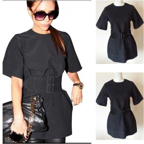Gürtelgrößen Kleid 12 mit uk6 Schwarzes Stil Promi Top Hv8BBw