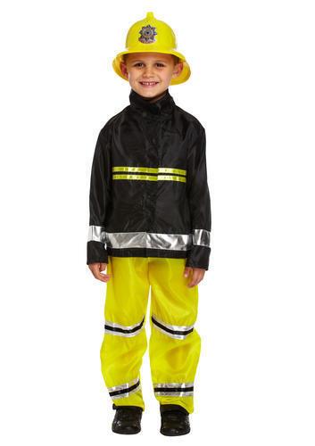Fireman Boys Fancy Dress Kids Fire Fighter Uniform Occupations Costume Outfit