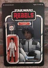 CUSTOM Carded Vintage Style Star Wars Rebels Imperial Cadet Ezra Bridger Figure