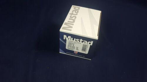 Lot 100 Qty Mustad 3263-BU 1X Fine Wire Hook Blue Size 4 Round Bend NEW NIB