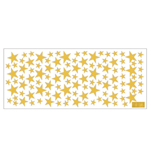 110Pcs Stars Wall Stickers Kid Deca Walll Art Nursery Bedroom Vinyl Decoration