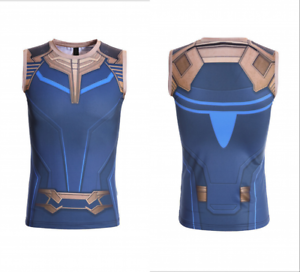 e882327a7e57f Avengers 3 Thanos Fitness Tank Top Gym Sport Undershirt Quick-dry ...