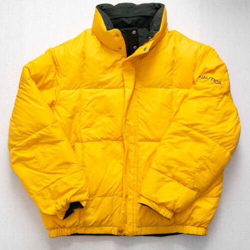 Nautica Reversible Down Jacket Men Sz Large Feathe