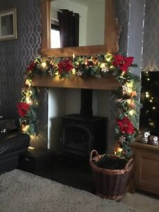 christmas-garland-with-lights-and-Decorations