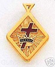 Masonic Knights Templar Pendant New D8423-10