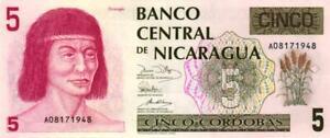 02 Nicaragua P174 5 Cordobas 1991 Unc Fabriken Und Minen