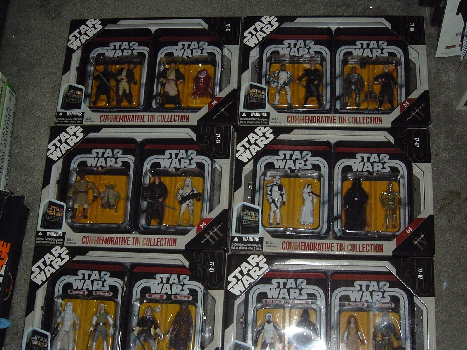 2006 Star Wars Commemorative Tin Collection Set of 6 SEALED