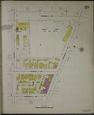 1897 SANBORN BENNETT PARK, NAVIN FIELD TIGER STADIUM DETROIT, MI COPY ATLAS MAP