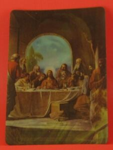 Details about VINTAGE JESUS & THE LAST SUPPER 3D LENTICULAR POST CARD 2-VUE  COLLECTORS SERIES