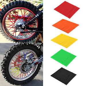72X-Motorcycle-Spoke-Skins-Covers-Wraps-Wheel-Pipe-Guard-Dirt-Bike-Motorbike-UK