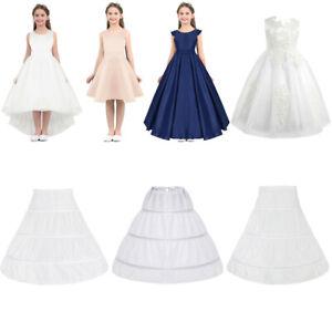 Girl-Petticoat-Flower-Girls-Wedding-Party-3-Hoop-Underskirt-Dress-Slips-Caroline