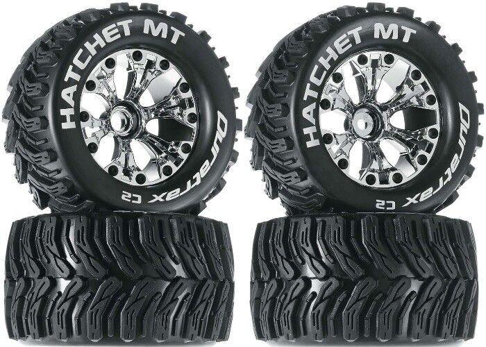 NEW Duratrax Hatchet MT Tires Wheels (4) Nitro Jato Stampede Rustler F / R
