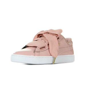 Chaussures Baskets Puma femme Basket Heart Patent W's taille Beige Synth tique