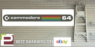 Commodore 64 Banner for GARAGE WORKSHOP or Man Cave Vintage Gaming Banner