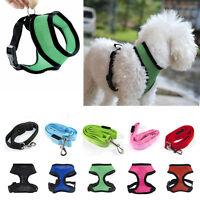 Pet Control Harness For Dog Puppy Cat Mesh Walking Collar Strap Vest + Led Leash