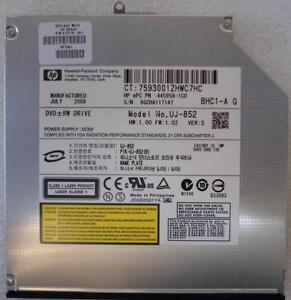 HP-DVD-RW-disco-445958-1c0-UJ-852-412778-001-90-GARANT-A-DE-RETORNO-A-BASE