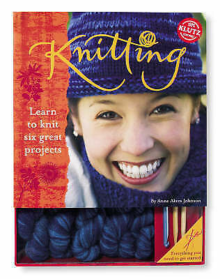 (good)-knitting: Learn To Knit, Six Great Projects (klutz) (paperback)-akers Joh Puur Wit En Doorschijnend