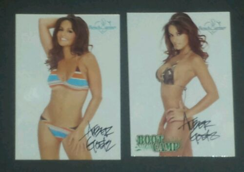 2003 Bench Warmer lot of 2 cards Amber Goetz Jenke signed autograph