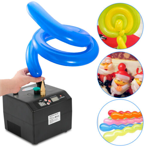 Electric Balloon Inflator Pump One Nozzle High Power Black Air Blower Portable