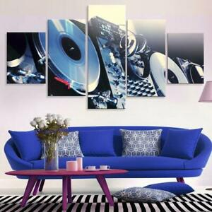 DJ Turntable Music Night 5 piece canvas Wall Art Home Decor Picture Print