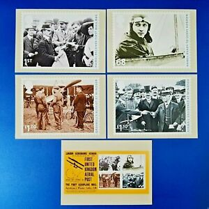 PHQ Stamp Postcards Set of 5 No.354 Aerial Post 2011 OD5