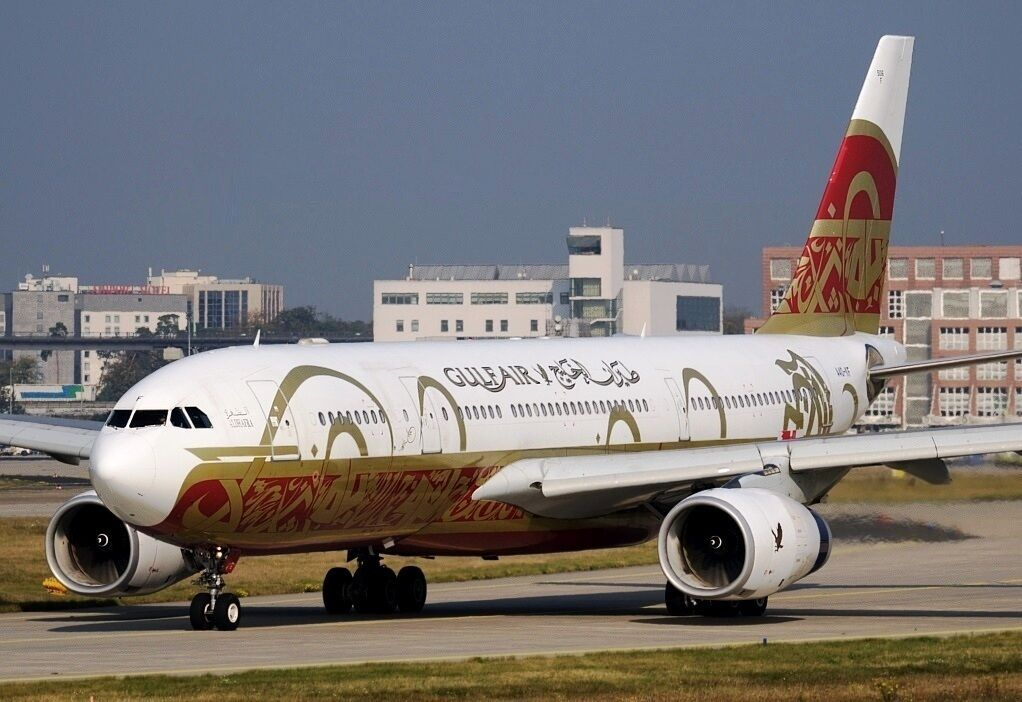 f633d57ca7e7e9 INFLIGHT200 IF3321016 1 200 GULF GULF GULF AIR A330-200 A40-KF 50TH  ANNIVERSARY WITH STAND 3faa61