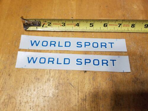 Genuine Original Schwinn World Sport Frame Waterslide Decals Chicago Blue