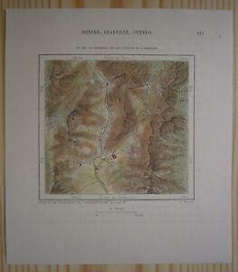 Details about 1892 Perron map LEADVILLE & HEADWATERS OF ARKANSAS RIVER,  COLORADO (#161)