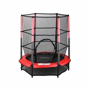 Image Is Loading WestWood Children S Mini Trampoline With Safety Net