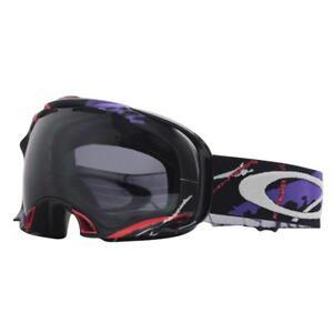 33c1b707661f Oakley 57-355 SIMON DUMONT SPLICE Black Dark Grey Lens Mens Snow Ski ...
