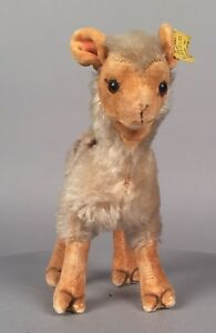 Vintage-Steiff-Llama-1317-0-7-034-Tall-1957-58-No-Chest-Tag